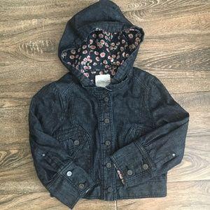Anthropologie Cidra Denim Cropped Jacket